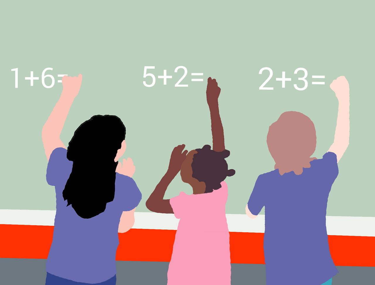 kids studying maths